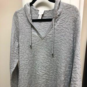 Chico's Silver Metallic Sweater